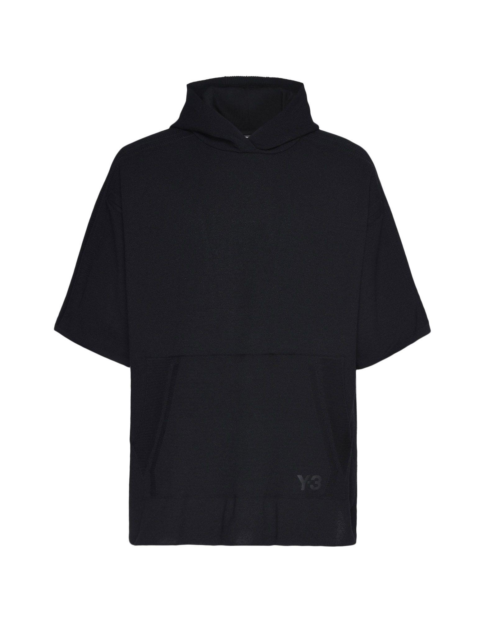 Y-3 Y-3 Tech Wool Hoodie Short sleeve jumper Man f