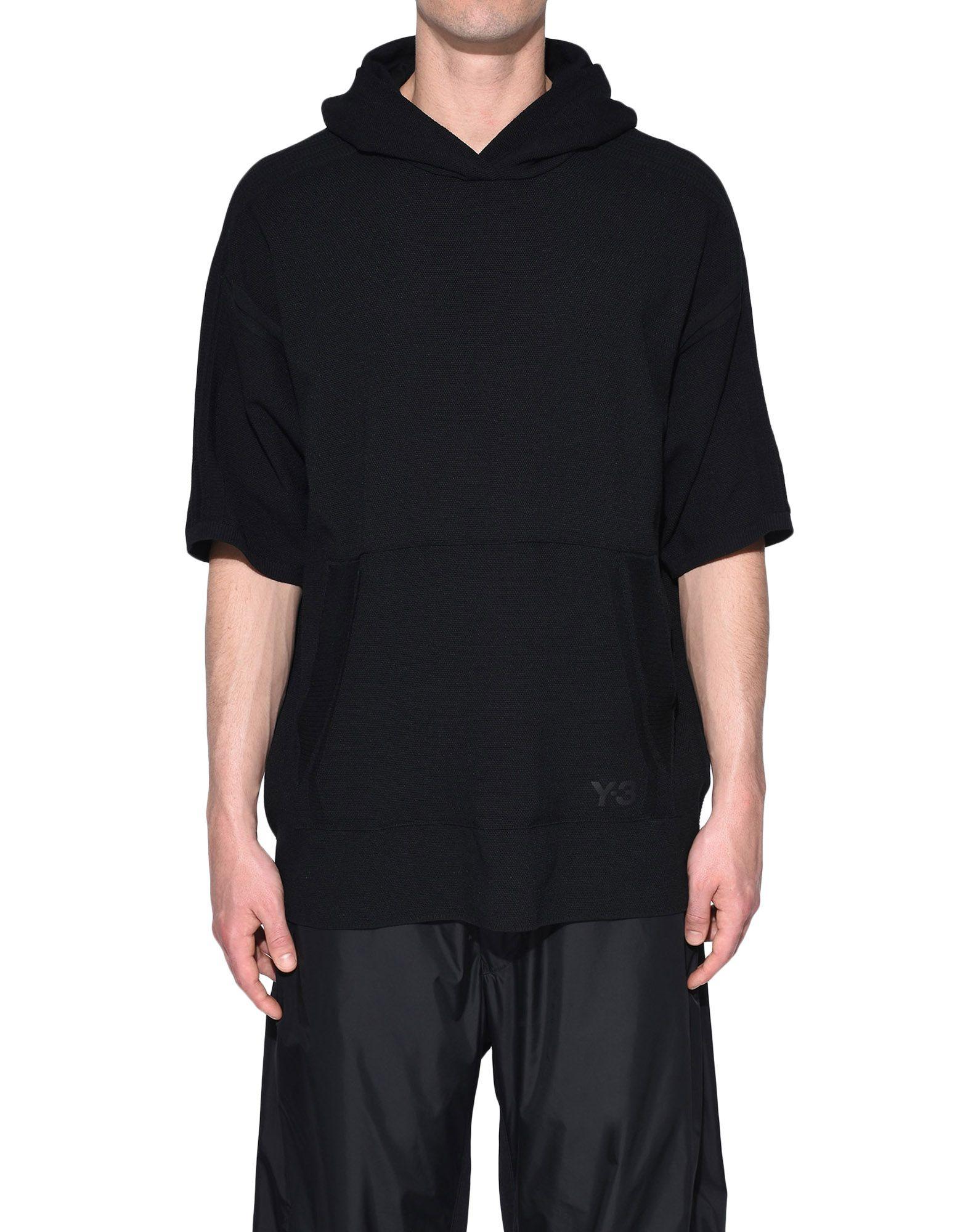 Y-3 Y-3 Tech Wool Hoodie Short sleeve jumper Man r