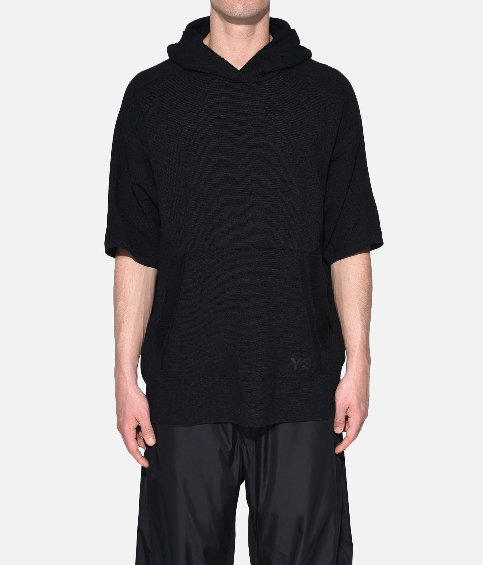 Y-3 Y-3 Tech Wool Hoodie Short sleeve jumper Man r