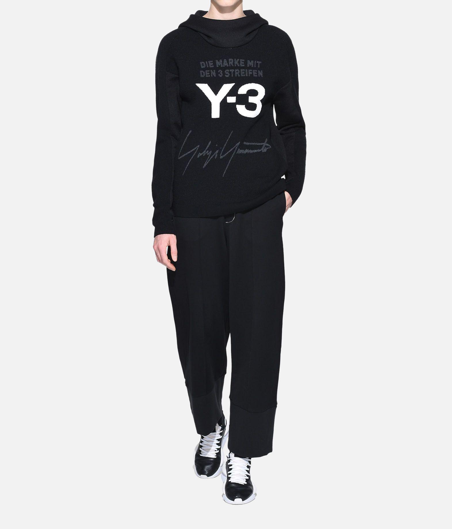 Y-3 Y-3 Knitted Stacked Logo Hoodie Hooded sweatshirt Woman a