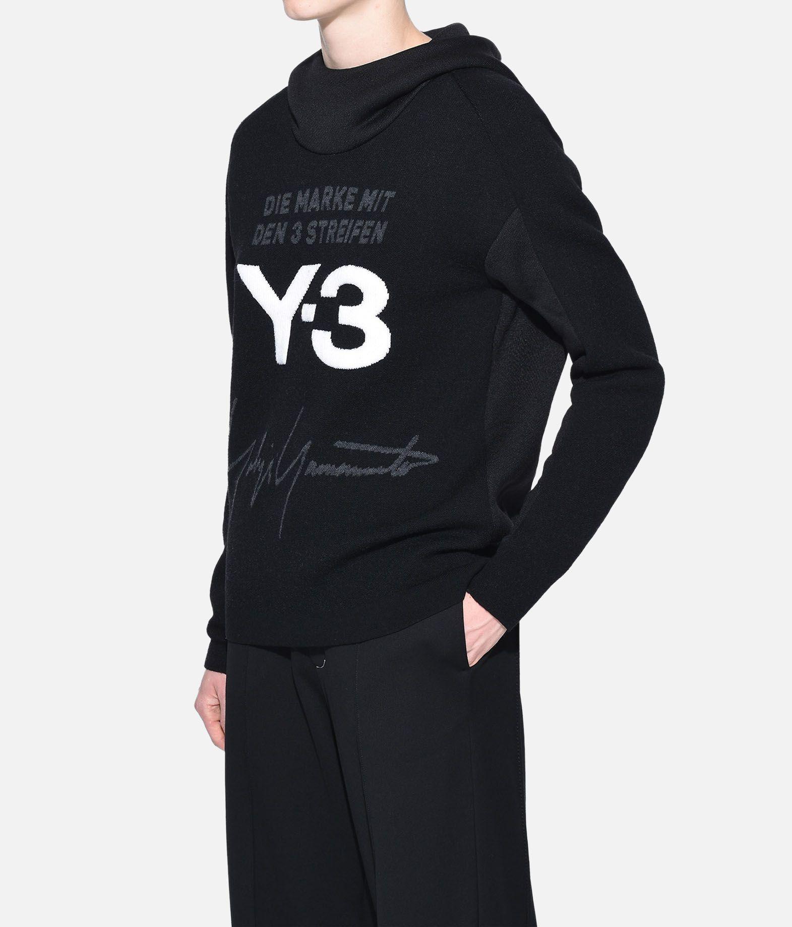 Y-3 Y-3 Knitted Stacked Logo Hoodie Hooded sweatshirt Woman e