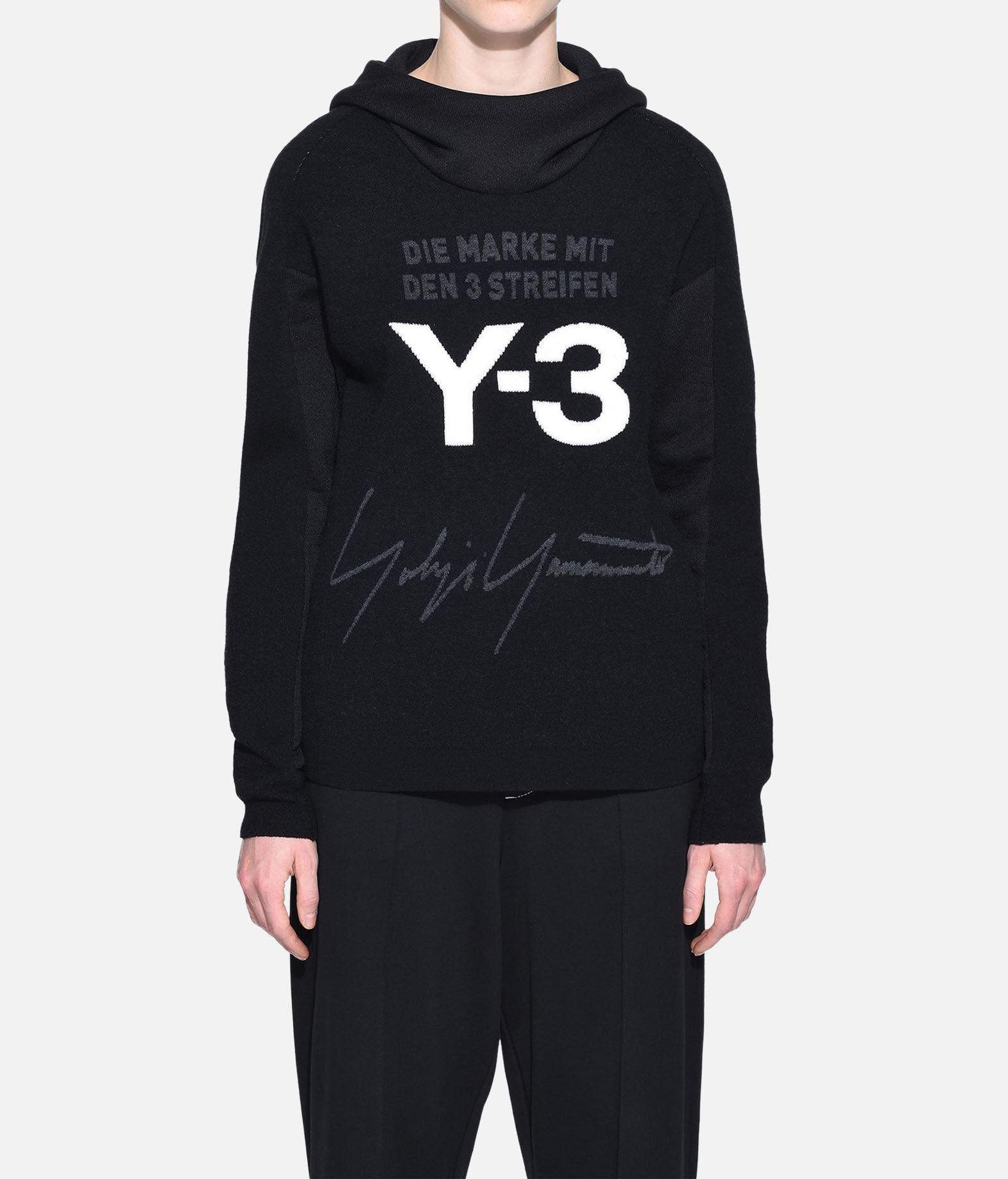 Y-3 Y-3 Knitted Stacked Logo Hoodie Hooded sweatshirt Woman r