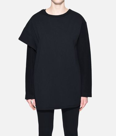 Y-3 Sweatshirt Woman Y-3 Two-Layer Fleece Sweater r