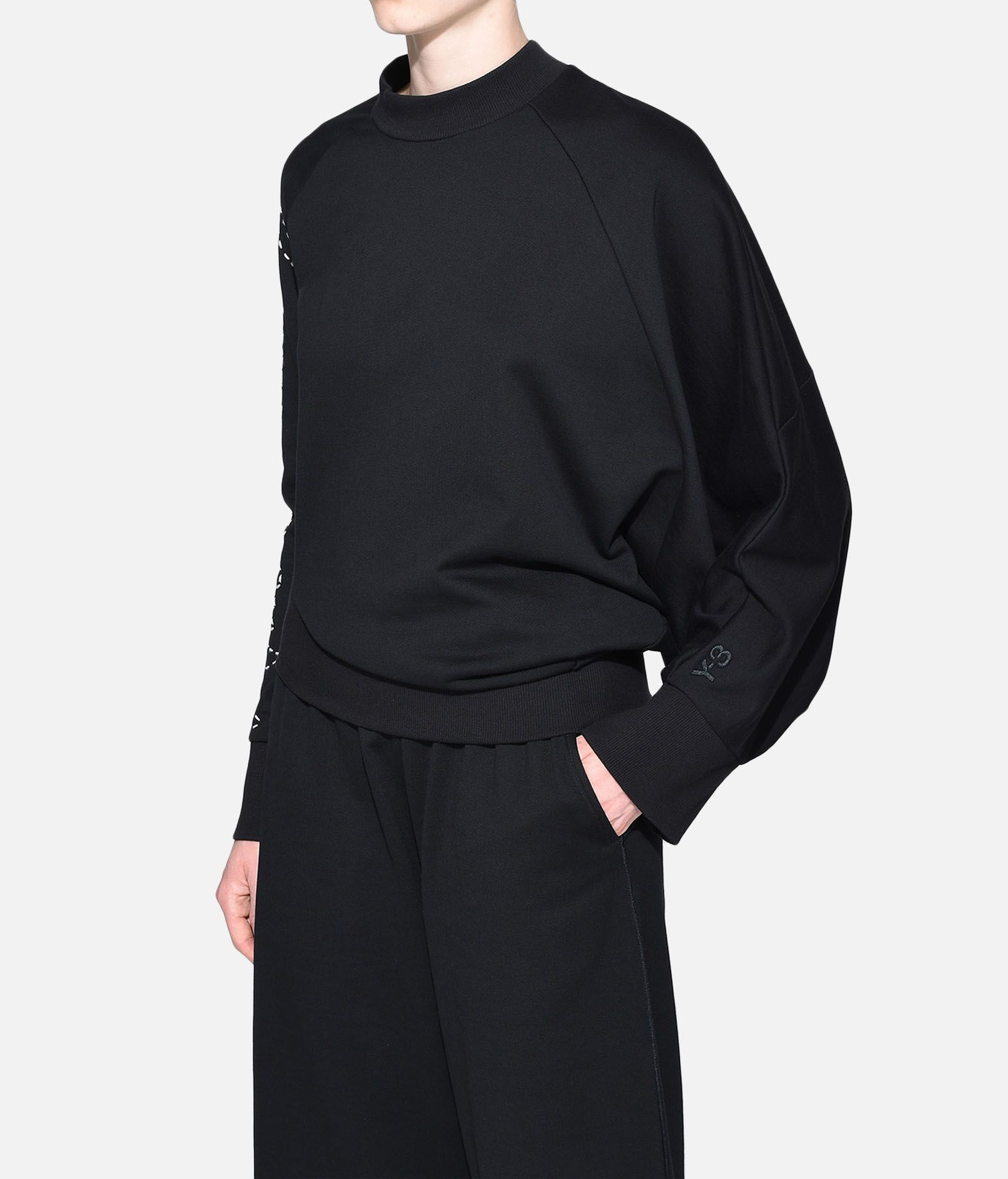 Y-3 Y-3 Sashiko Slogan Sweater Sweatshirt Woman e