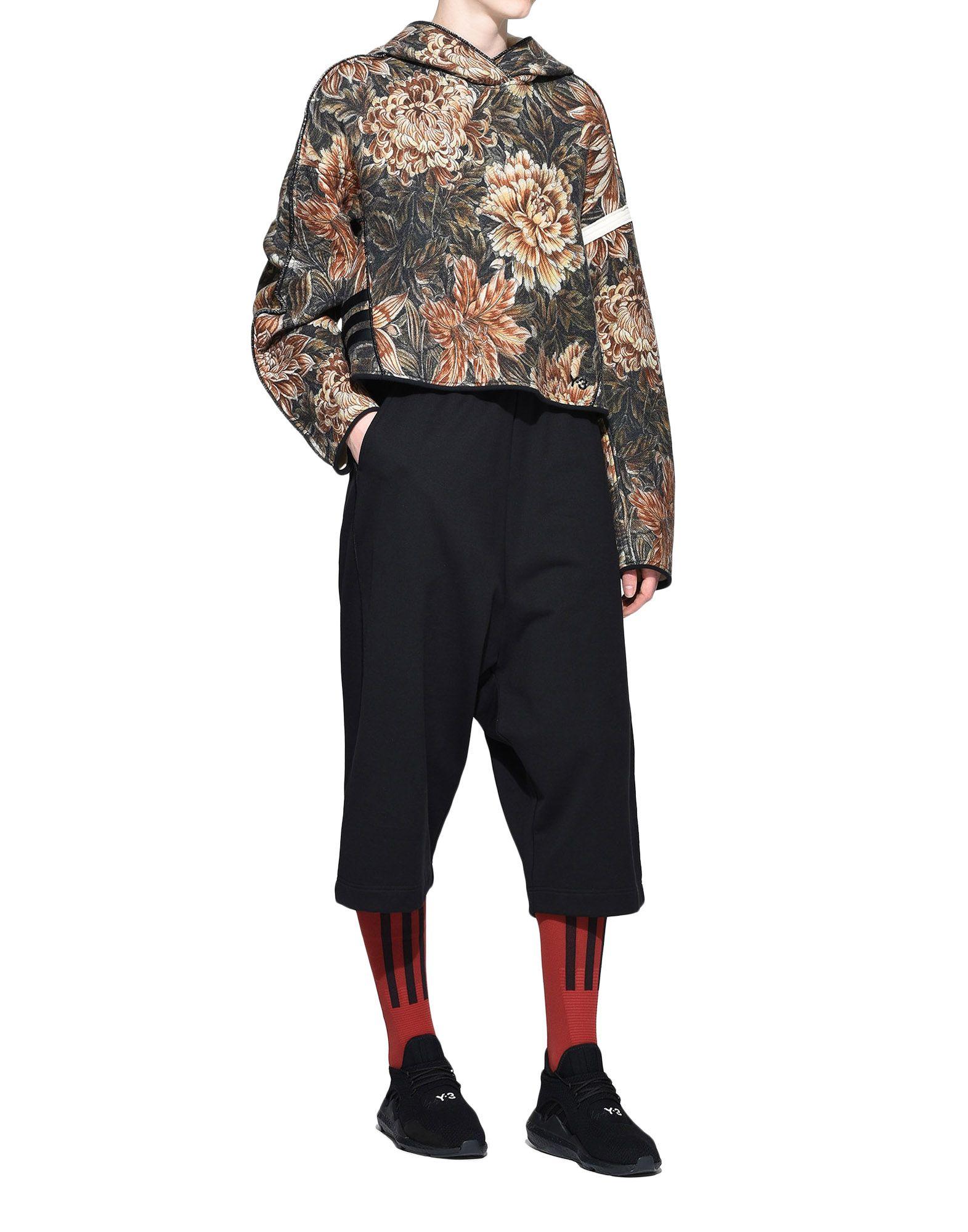 Y-3 Y-3 AOP Spacer Wool Cropped Hoodie Hooded sweatshirt Woman a