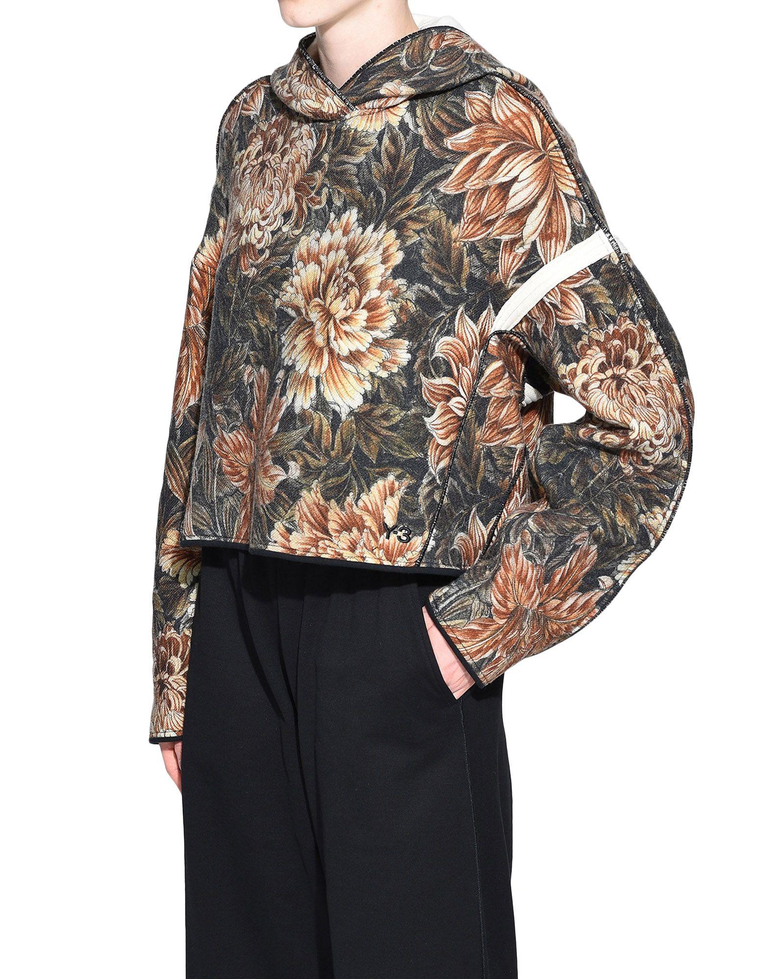 Y-3 Y-3 AOP Spacer Wool Cropped Hoodie Hooded sweatshirt Woman e