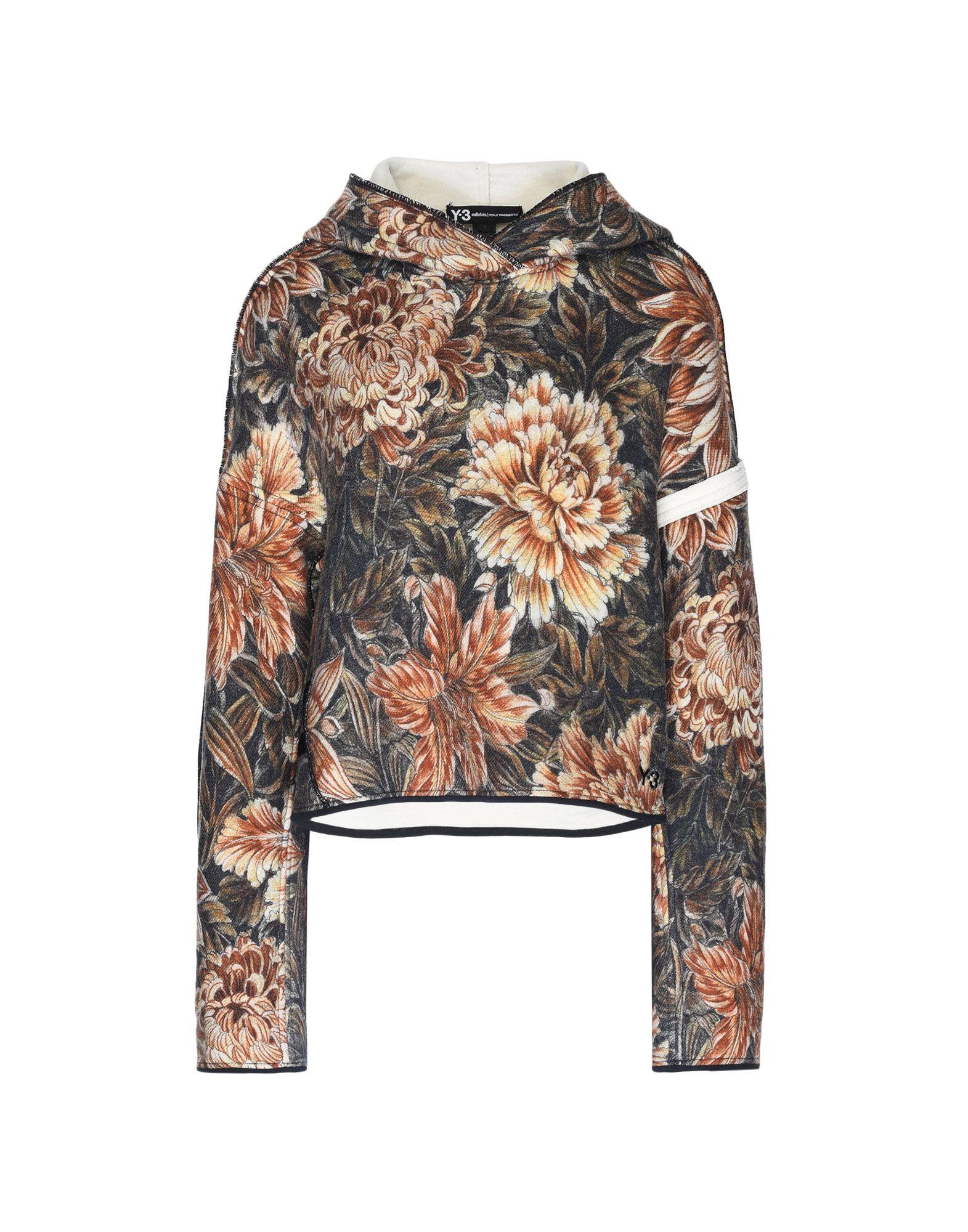 Y-3 Y-3 AOP Spacer Wool Cropped Hoodie Hooded sweatshirt Woman f