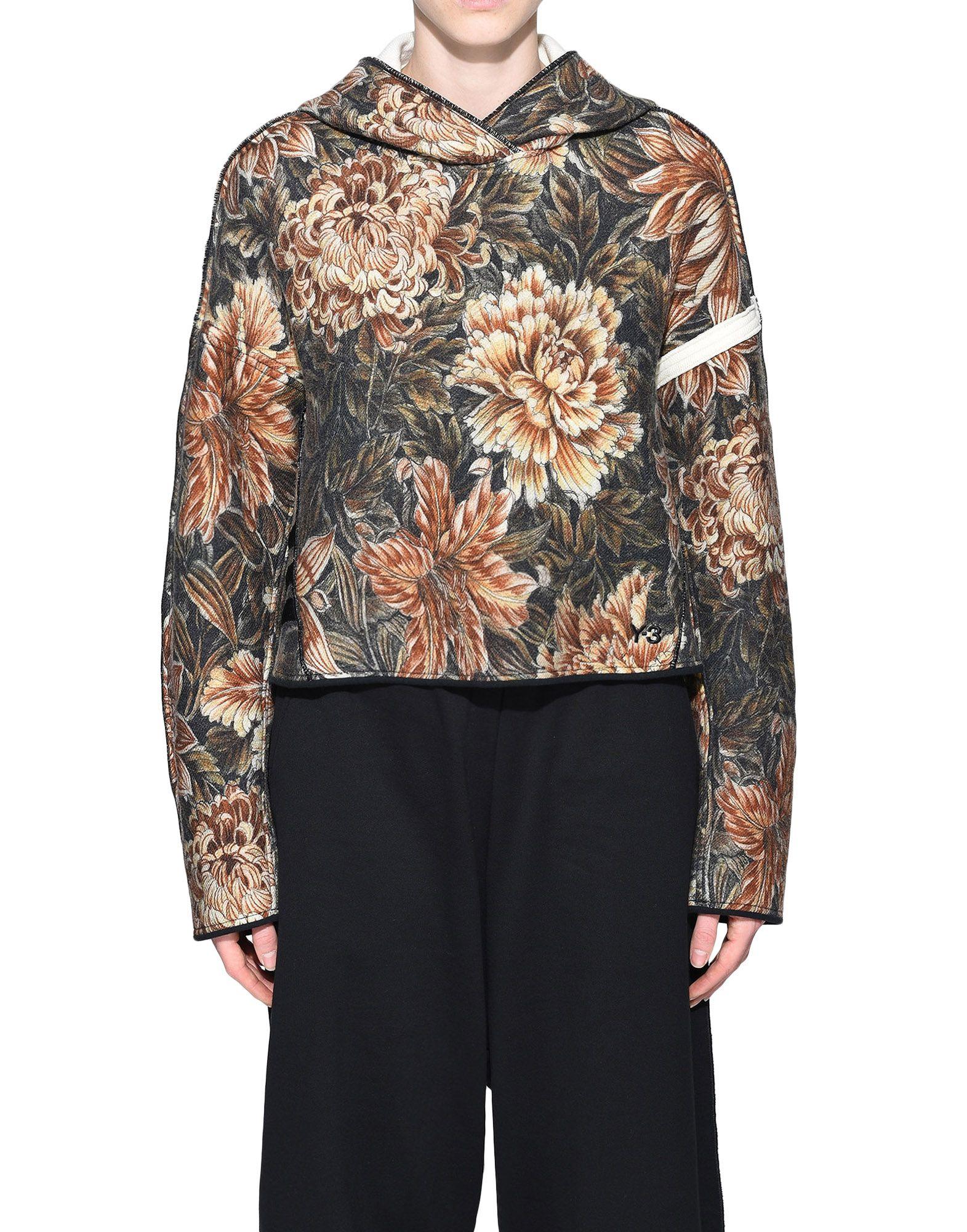 Y-3 Y-3 AOP Spacer Wool Cropped Hoodie Hooded sweatshirt Woman r