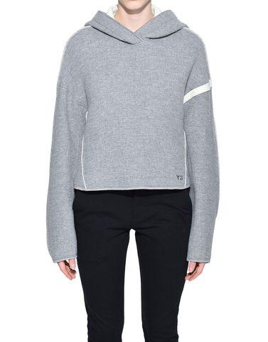 Y-3 Hooded sweatshirt Woman Y-3 Oversize Spacer Wool Cropped Hoodie r