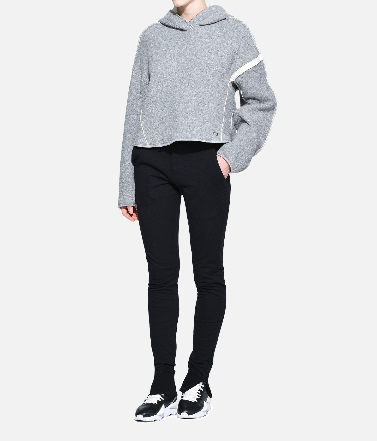 Y-3 Y-3 Oversize Spacer Wool Cropped Hoodie Hooded sweatshirt Woman a