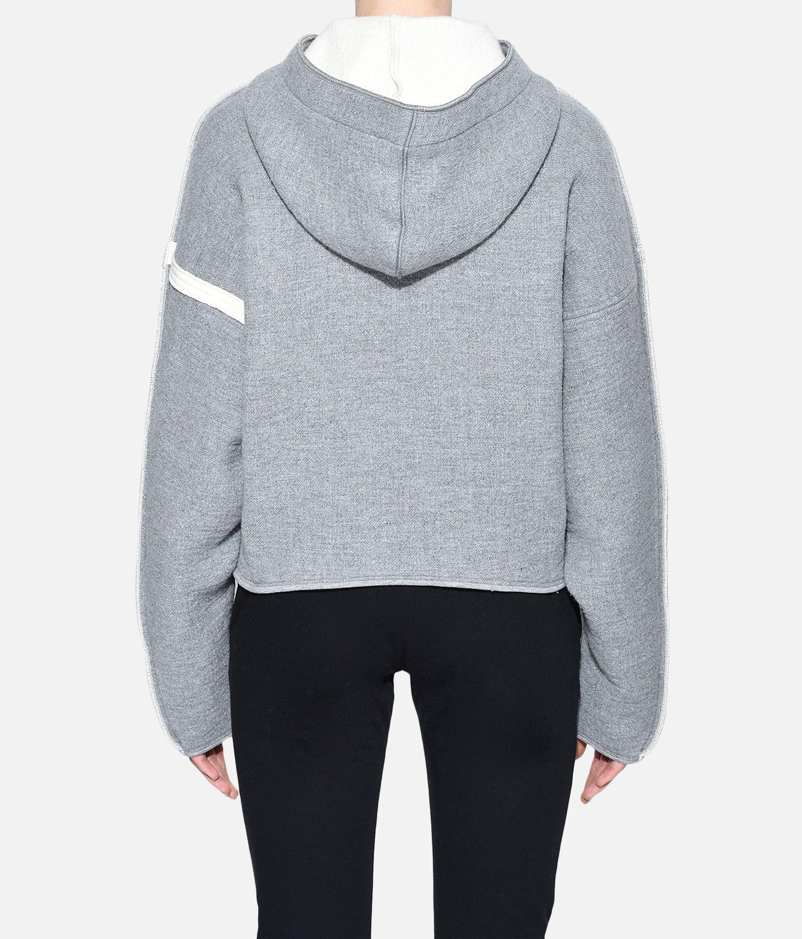 Y-3 Y-3 Oversize Spacer Wool Cropped Hoodie Hooded sweatshirt Woman d