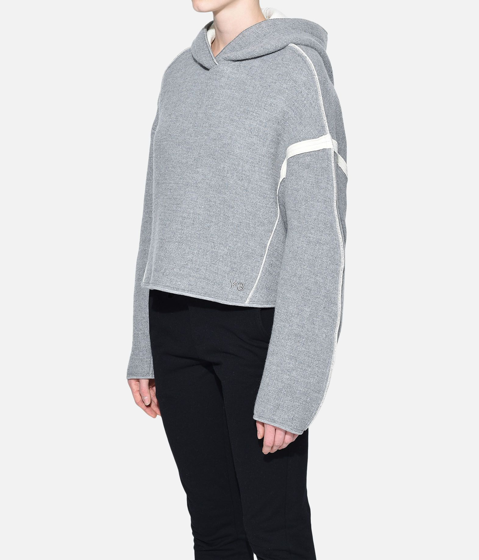 Y-3 Y-3 Oversize Spacer Wool Cropped Hoodie Hooded sweatshirt Woman e