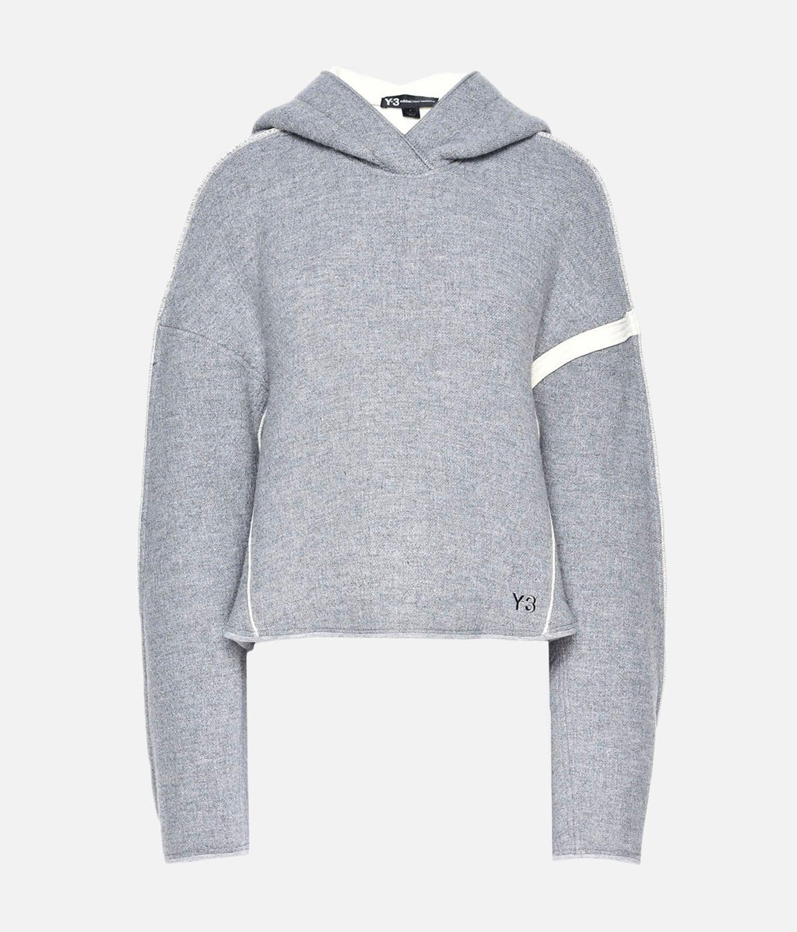 Y-3 Y-3 Oversize Spacer Wool Cropped Hoodie Hooded sweatshirt Woman f