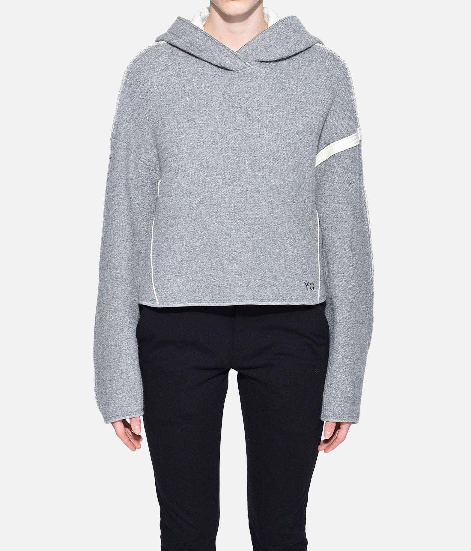 Y-3 Y-3 Oversize Spacer Wool Cropped Hoodie Hooded sweatshirt Woman r