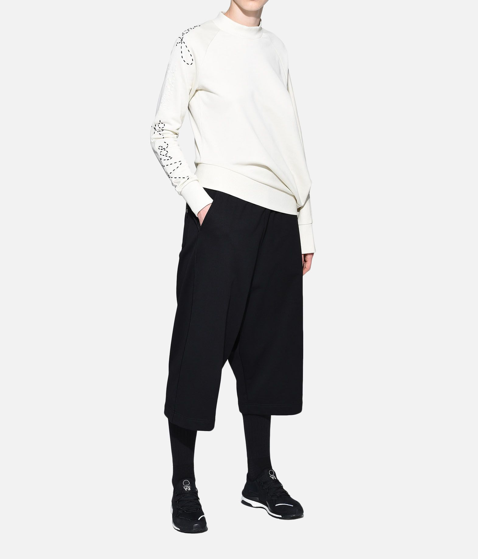 Y-3 Y-3 Sashiko Slogan Sweater Sweatshirt Woman a