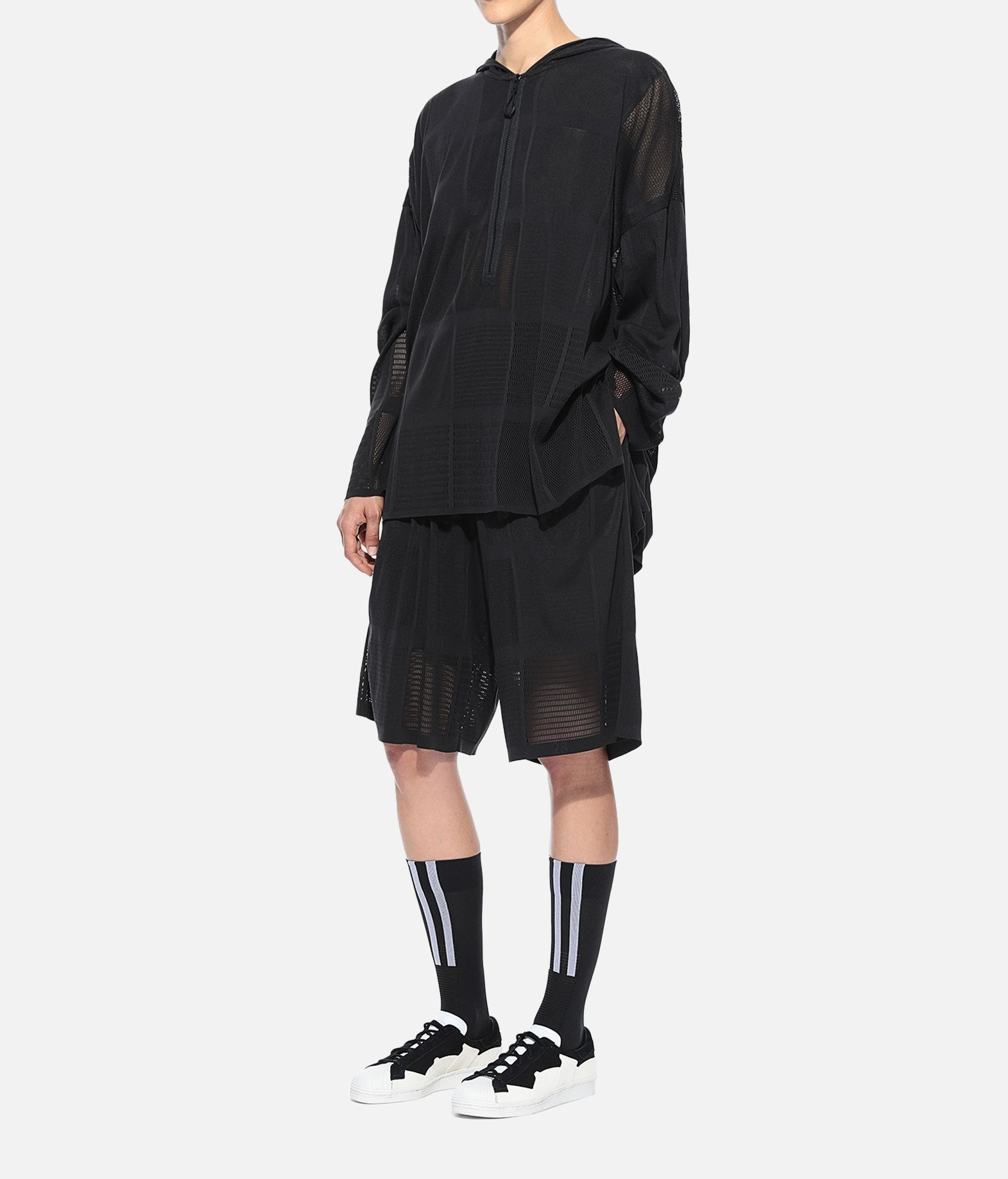Y-3 Y-3 Patchwork Hoodie Sweatshirt mit Kapuze Damen a