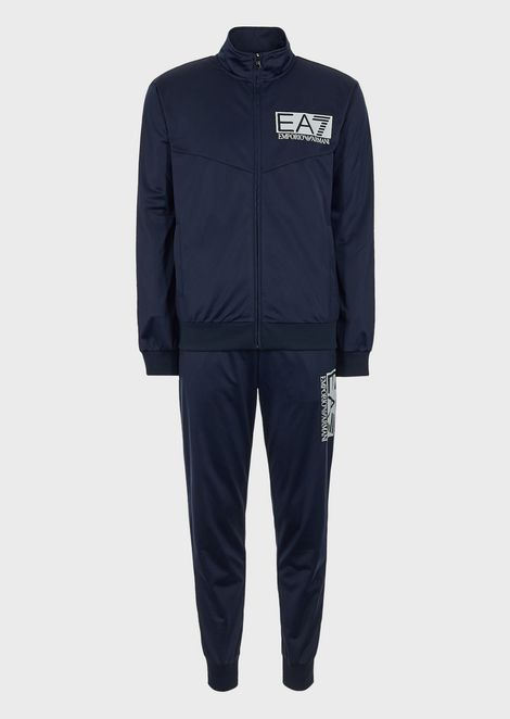 Tech fabric sports tracksuit with printed logo