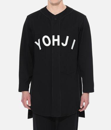 Y-3 Sweatshirt Man Y-3 Yohji Letters Baseball Shirt r