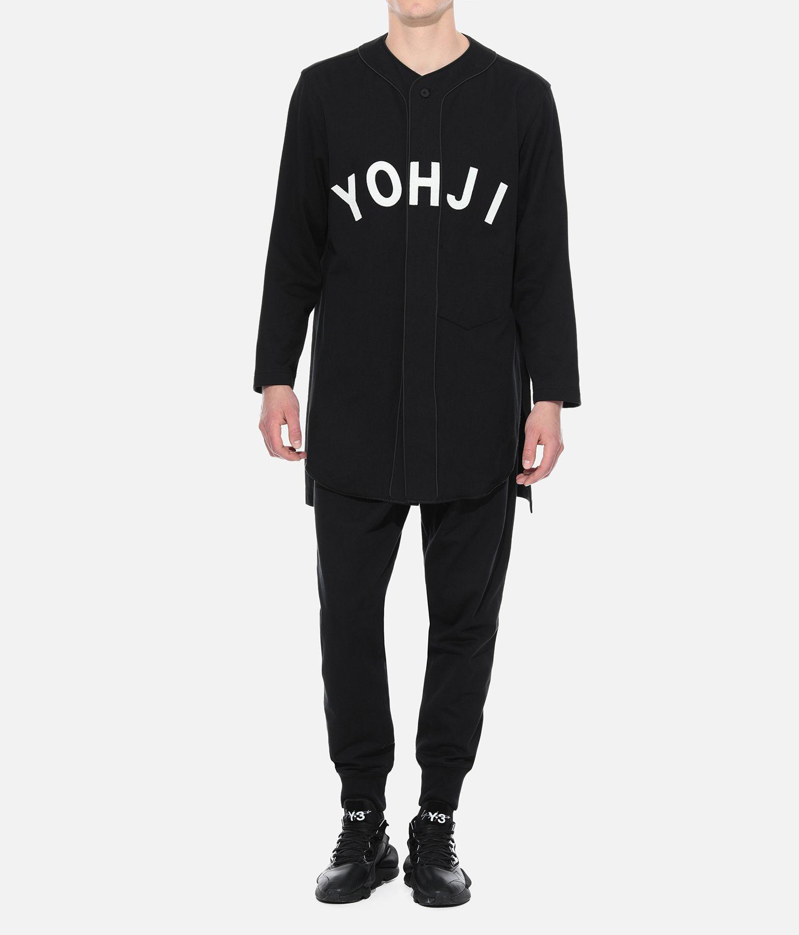 Y-3 Y-3 Yohji Letters Baseball Shirt Sweatshirt Man a