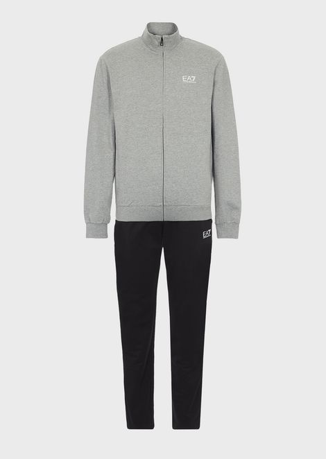 Train Core ID baby French terry cotton tracksuit