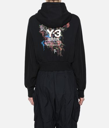 Y-3 Hooded sweatshirt Woman Y-3 Toketa Print Cropped Hoodie r