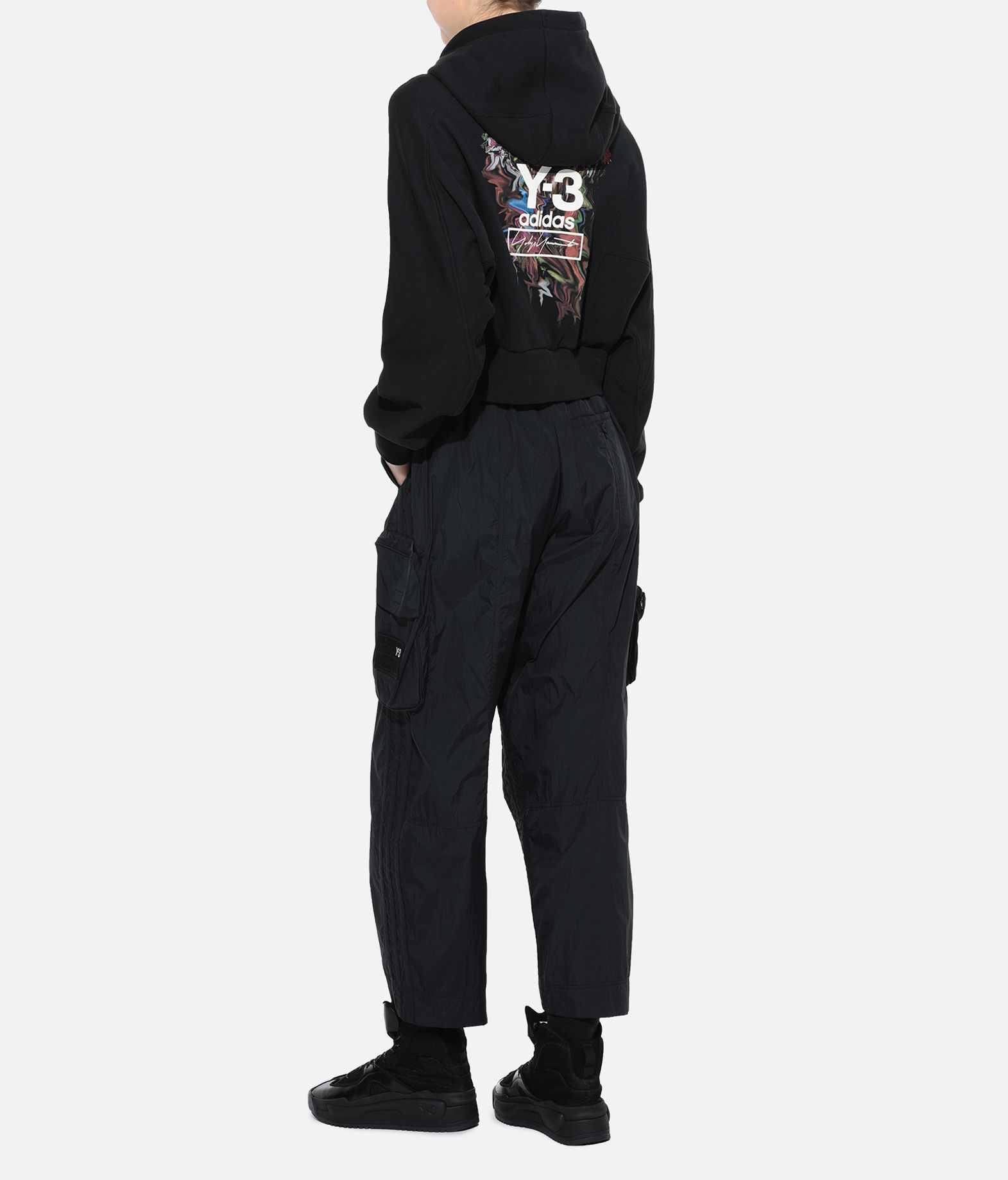 Y-3 Y-3 Toketa Print Cropped Hoodie Hooded sweatshirt Woman a