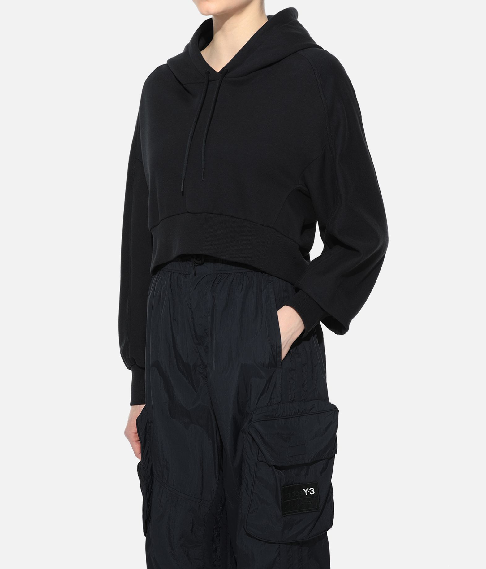 Y-3 Y-3 Toketa Print Cropped Hoodie Hooded sweatshirt Woman e