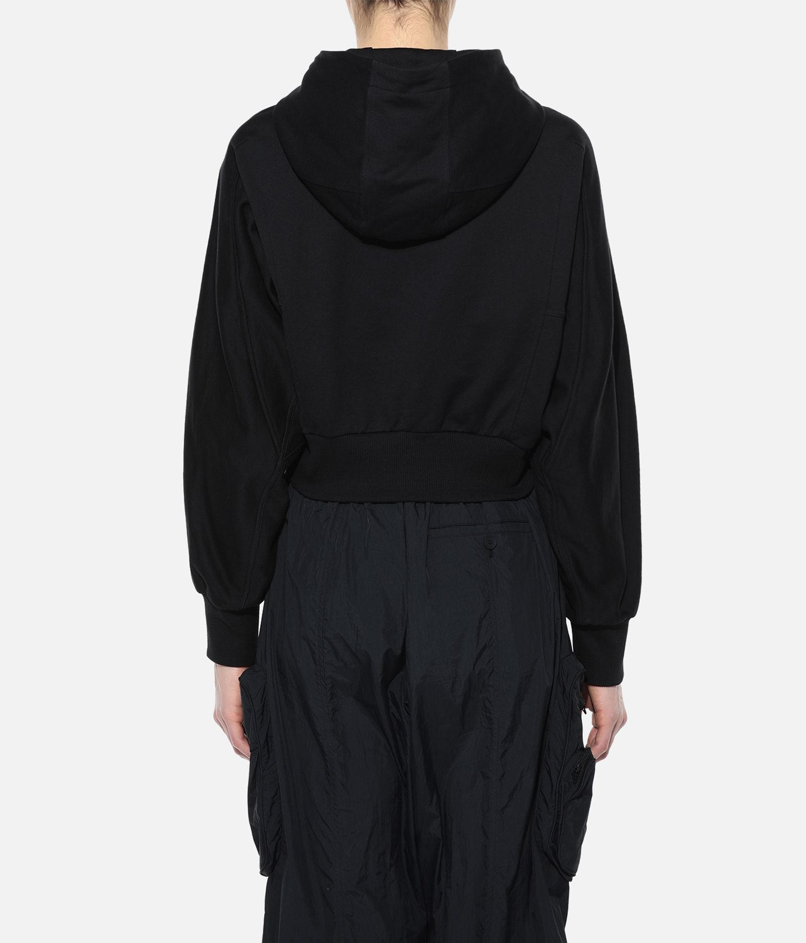 Y-3 Y-3 Stacked Badge Cropped Hoodie Hooded sweatshirt Woman d