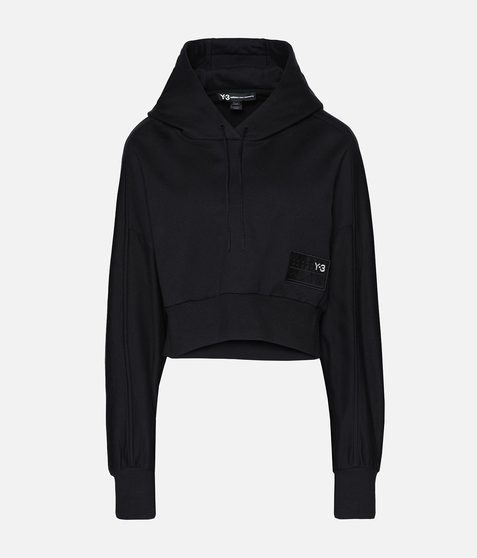 Y-3 Y-3 Stacked Badge Cropped Hoodie Hooded sweatshirt Woman f