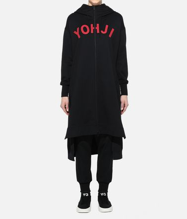 Y-3 Hooded sweatshirt Woman Y-3 Yohji Letters Full-Zip Long Hoodie r