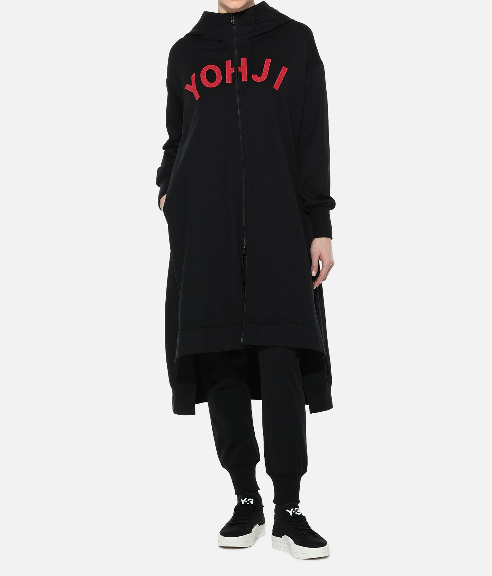 Y-3 Y-3 Yohji Letters Full-Zip Long Hoodie Hooded sweatshirt Woman a