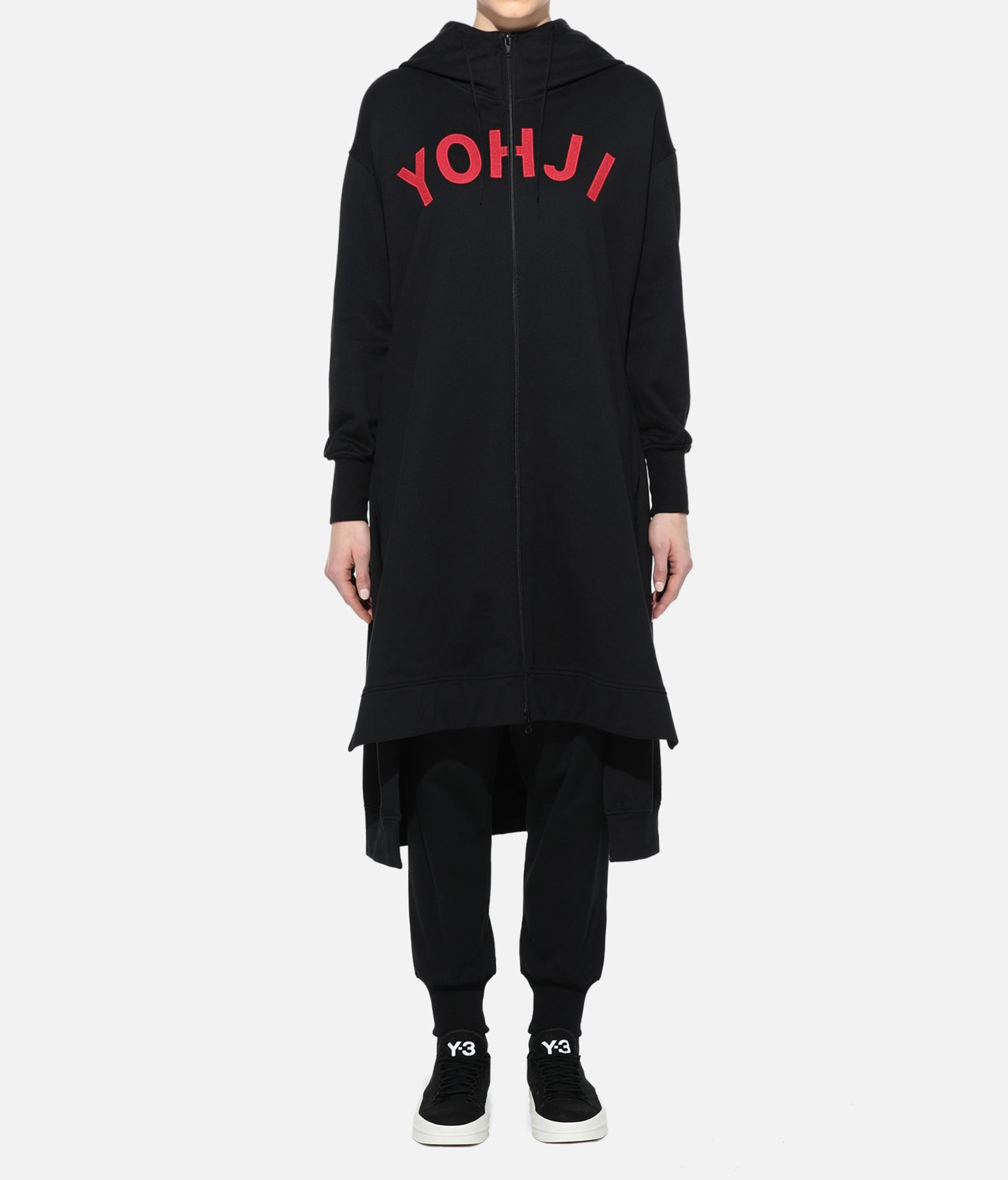 Y-3 Y-3 Yohji Letters Full-Zip Long Hoodie Hooded sweatshirt Woman r