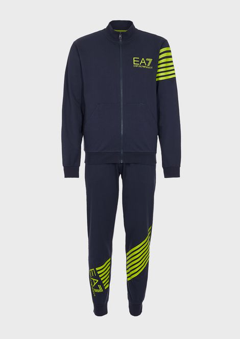 Train 7 Lines baby French terry cotton tracksuit