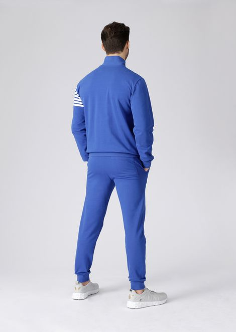 Train 7Lines baby French terry cotton tracksuit