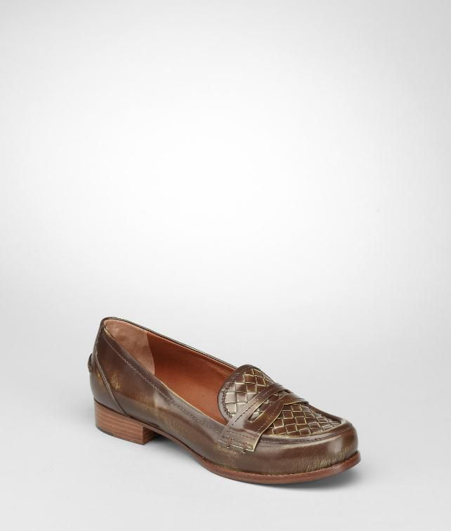 BOTTEGA VENETA Intrecciato Calf Loafer Flats, ballerinas and loafers D fp