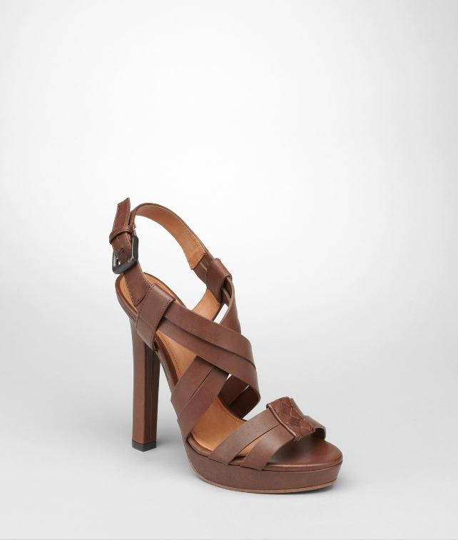 BOTTEGA VENETA Intrecciato Cuir Sandal Heels and wedges D fp