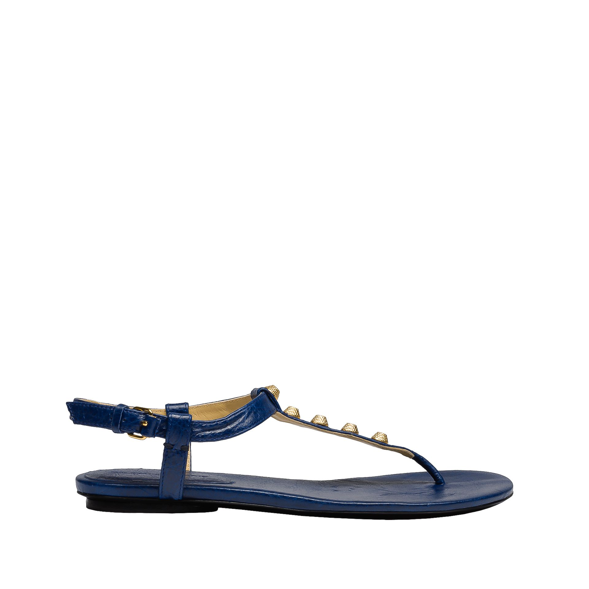 Balenciaga Giant Sandales Entredoigts Plates Or