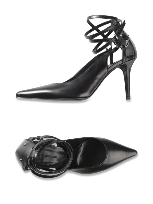 DIESEL BLACK GOLD LACED PUMP AI-WR Dress Shoe D r
