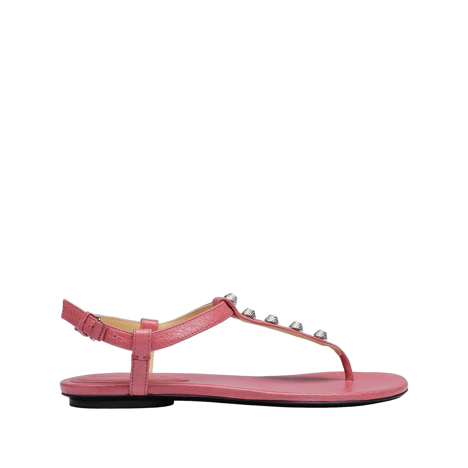 Balenciaga Giant Sandales Entredoigts Plates Argent