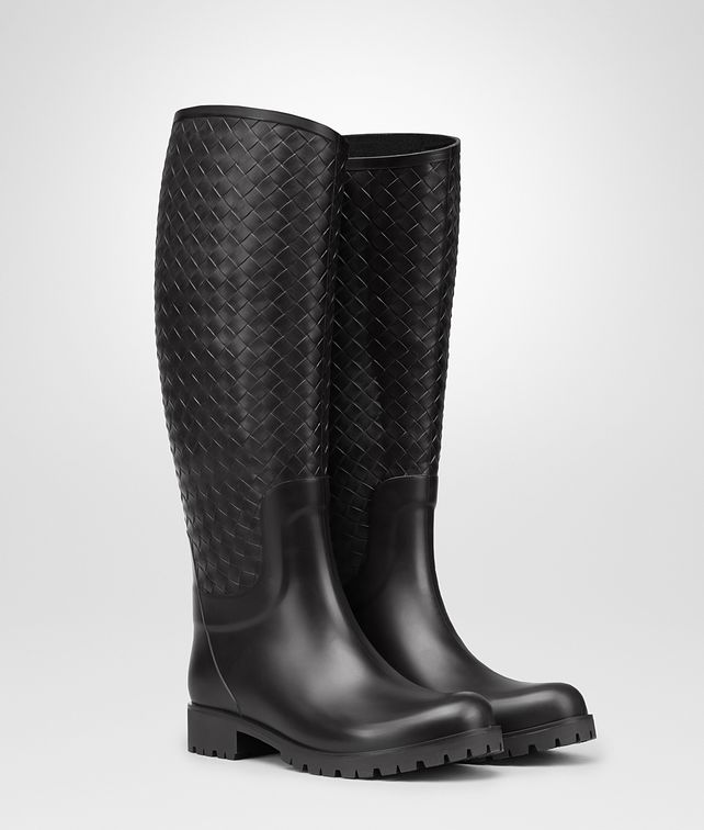 BOTTEGA VENETA RAINBOOT IN NERO RUBBER Boots and ankle boots Woman fp