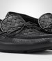 BOTTEGA VENETA WAVE DRIVER IN NERO INTRECCIATO CERVO Mocassin or Slipper Man ap