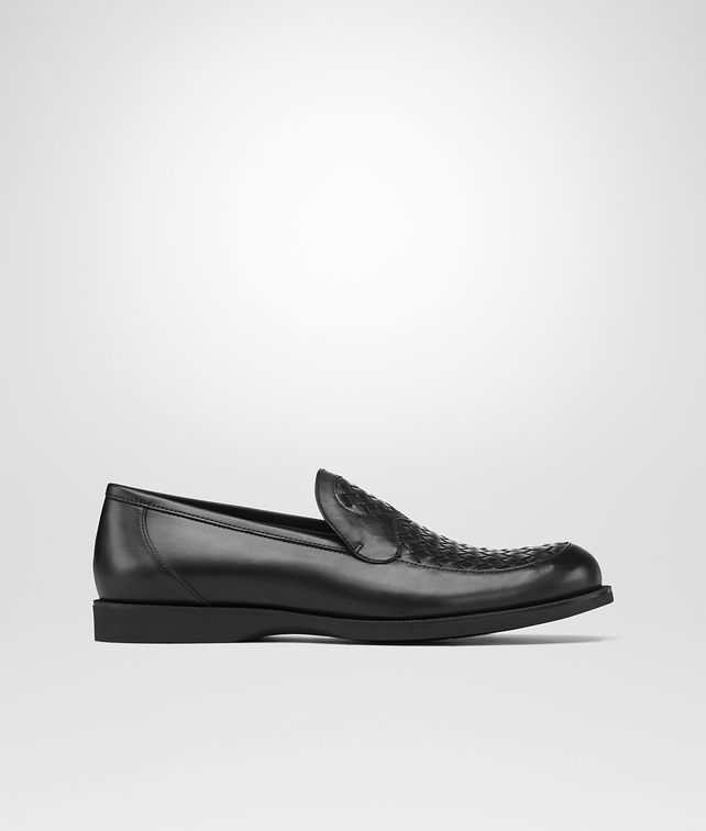 BOTTEGA VENETA Nero Palladio Calf Intrecciato Shoe Mocassin or Slipper U fp
