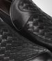 BOTTEGA VENETA Nero Palladio Calf Intrecciato Shoe Mocassin or Slipper U ap