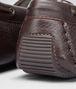 BOTTEGA VENETA Mocassin en cuir de CERVO délavé intrecciato espresso Chaussure plate D ap