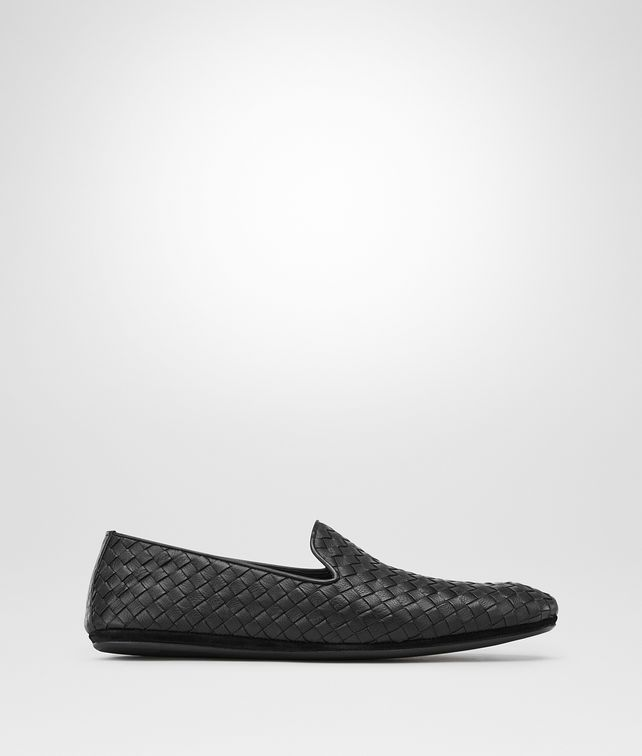 BOTTEGA VENETA FIANDRA SLIPPER IN NERO INTRECCIATO CALF Mocassin or Slipper Man fp