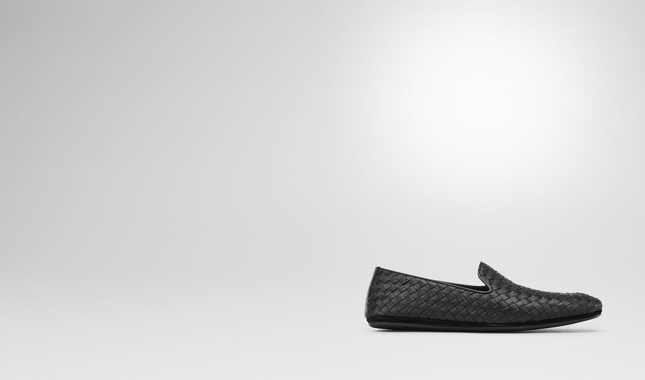 fiandra slipper in nero intrecciato calf landing