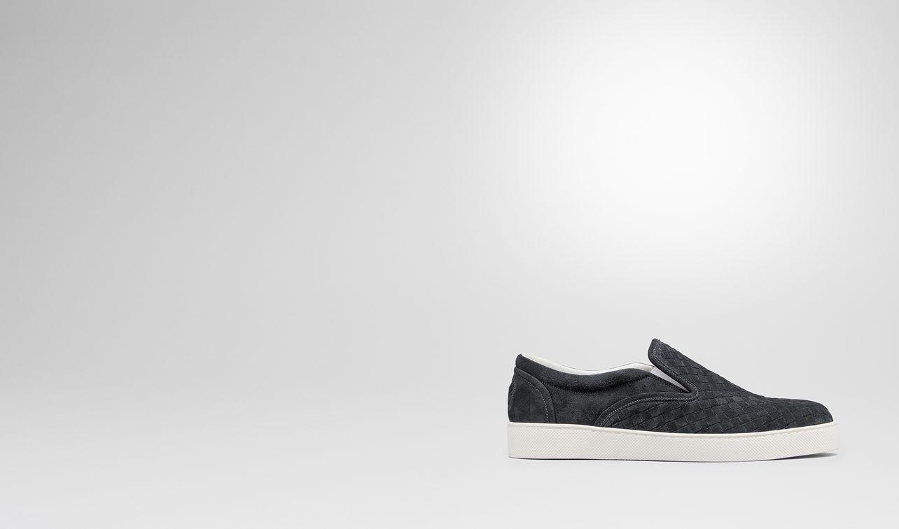 ardoise intrecciato suede sneaker landing