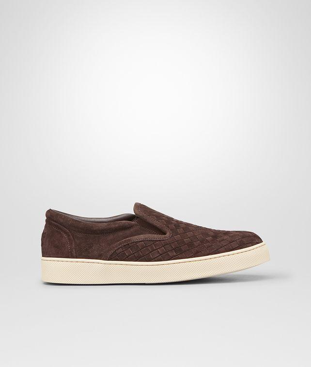 BOTTEGA VENETA Sneaker aus Wildleder Intrecciato Espresso Sneaker oder Sandale U fp