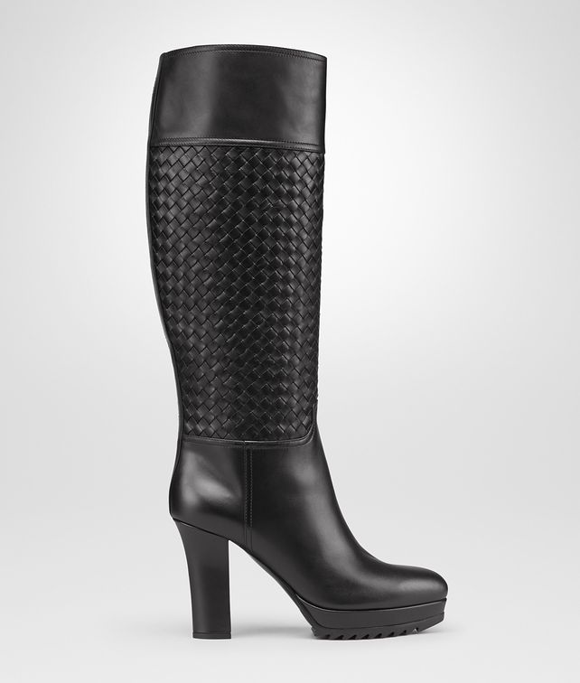 BOTTEGA VENETA Nero Intrecciato Calf Boot Boots and ankle boots D fp