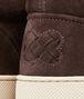 BOTTEGA VENETA Espresso Intrecciato Suede Sneaker Trainers U ap
